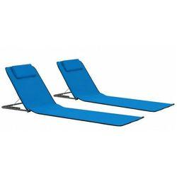 Składane niebieskie maty plażowe - Kawor
