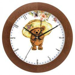 Zegar drewniany solid kapelusznik, ATW300MK