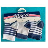 Skarpetki niemowlęce 0-6 mies. Niebieskie 3 pary, kolor niebieski