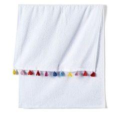 Ręcznik z kolorowymi chwostami (2 szt.) bonprix biały