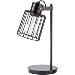 Stołowa LAMPA stojąca LUTO KWADRAT 50084 Sigma biurkowa LAMPKA druciana metalowa KLATKA industrialna drut loft czarna matowa (5902335267170)