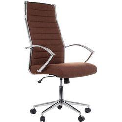 Fotel gabinetowy NE-637 brąz (tapicerka 32) - biurowy, obrotowy - krzesło obrotowe