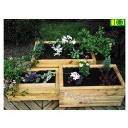 Kwietnik ogrodowy potrójny prostokątny (3-szt) - produkt dostępny w ploty-pergole.pl