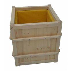 Elior Wysoka drewniana kwadratowa donica ogrodowa - linara