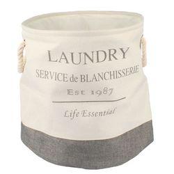 Dakls Kosz tekstylny na pranie Laundry, biały