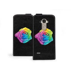 Etuo.pl Flip fantastic - lg g4 stylus - etui na telefon flip fantastic - kolorowa róża