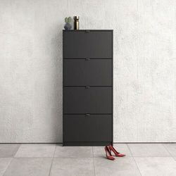 Szafka na buty roma 4d duża, czarny mat marki Tvilum