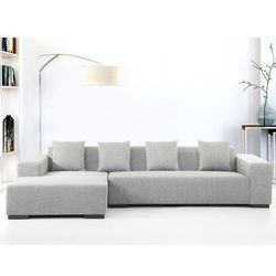 Sofa szara - sofa narozna R - tapicerowana - LUNGO, produkt marki Beliani