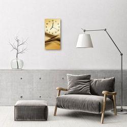 Zegar szklany pionowy sztuka abstrakcja beżowy marki Tulup.pl