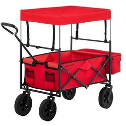 Wózek ogrodowy składany - 100 kg - czerwony