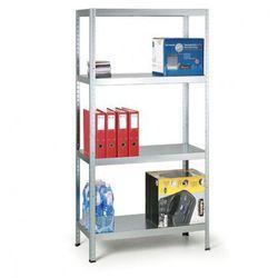 B2b partner Regał metalowy, 130 kg, 1800x900x400 mm, 4 półki, biały