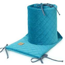 ochraniacz do łóżeczka 60x120 oraz 70x140 velvet pik - morski marki Mamo-tato