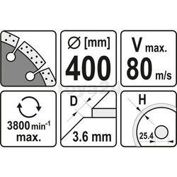 YATO TARCZA DIAMENTOWA DO BETONU 400 x 25,4mm 5955