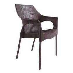 Krzesło ogrodowe z technorattanu Bahati brązowe w super cenie - produkt z kategorii- Krzesła ogrodowe