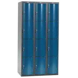 Ekskluzywne szafy osobiste 3x4 schowkim Kolor drzwi: Niebieski metalizowan, 1311457