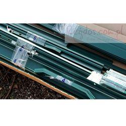 Szklarnia ogrodowa 2,6m2 - 1,3x2x2m - Aluminium + poliwęglan - kolor zielona z kategorii szklarnie