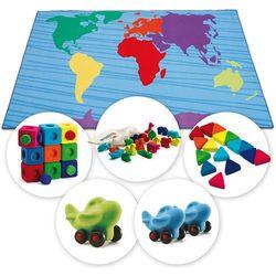 Dywan kontynenty i zestaw gumowych zabawek