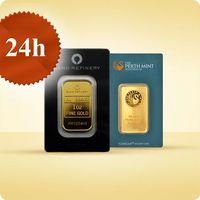 Perth mint, pamp suisse 1 uncja sztabka złota certicard - wysyłka 24 h! - 24 h