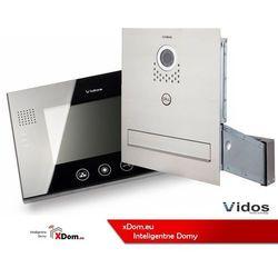 Vidos Zestaw jednorodzinny wideodomofonu. skrzynka na listy z wideodomofonem. monitor 7'' s551-skm_m670b
