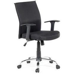 Beliani Krzesło biurowe - czarne - obrotowe - tapicerowane - do komputera - elite (7081459152840)