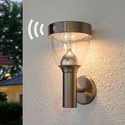 Lampenwelt.com Lampa solarna led lenjo, stal szlachetna (4251096539868)