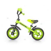 Milly-mally Rowerek biegowy z hamulcem dragon zielony #b1