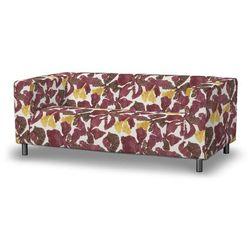 pokrowiec na sofę klippan 2-osobową, żółto-brązowe kwiaty, sofa klippan 2-osobowa, wyprzedaż do -30% marki Dekoria