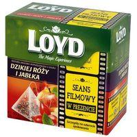 Loyd tea Loyd 20x2g herbata owocowa o smaku dzikiej róży i jabłka aromatyzowana piramidki