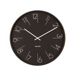 Karlsson:: Zegar ścienny Elegant Numbers czarny, kolor czarny