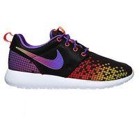 Buty Nike Rosherun Print (GS) (677784-003) - Czarny ||Fioletowy ()