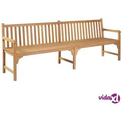 vidaXL Ławka ogrodowa, 240 cm, lite drewno tekowe (8718475713951)