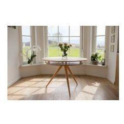Stół drewniany okrągły RAGABA TRIAD - kolor jesionowy