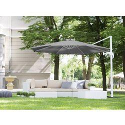 Beliani Parasol ogrodowy Ø300 cm antracytowy/biały savona