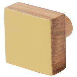 Wieszaczek drewniany nantua żółty marki Cooke&lewis