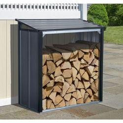Stalowa drewutnia ogrodowa firewood 1,1 x 0,6 m antracyt marki Arrow