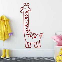 Naklejka welurowa dla dzieci żyrafa 1917 marki Wally - piękno dekoracji