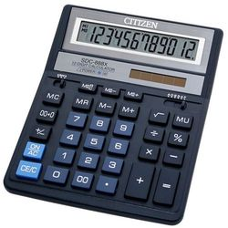 Citizen Kalkulator biurowy sdc-888xbl, 12-cyfrowy, 203x158mm, niebieski (4562195132745)