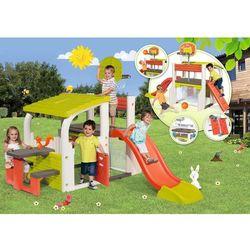 Smoby centrum zabawy z koszem, bramką, zjeżdżalnią i stolikiem (3032168402034)