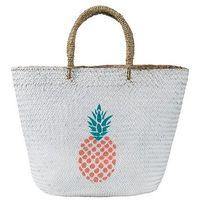 Torba plażowa z motywem ananasa bonprix biały