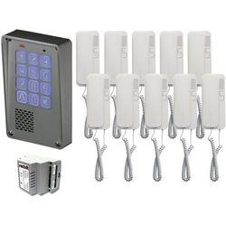 Zestaw 10-rodzinny cyfrowy panel domofonowy wielorodzinny z szyfratorem kec-4 nt mini gd36 marki Radbit