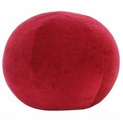Okrągła czerwona pufa welurowa - bazali 2x marki Elior