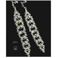 Arande Swarovski piękne kolczyki crystal srebro ślub