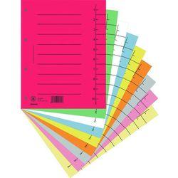Donau Przekładki , karton, a4, 235x300mm, 1-10, 10 kart, mix kolorów