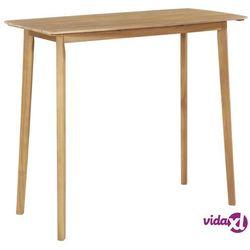 Vidaxl stolik barowy z litego drewna akacjowego, 120 x 60 x 105 cm