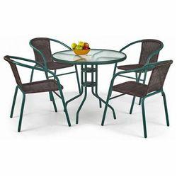 Szklany stół ogrodowy Tivoli - okrągły, V-CH-GRAND_80-ST
