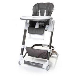 4baby  icon krzesełko do karmienia ekoskóra nowość grey