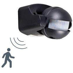 PIR czujnik ruchu ścienny czarny - produkt z kategorii- lampy ogrodowe