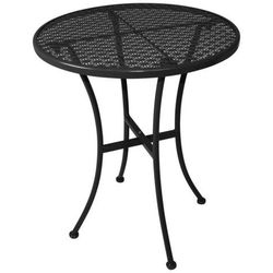 Bolero Stolik ogrodowy czarny | 60x60x(h)71cm
