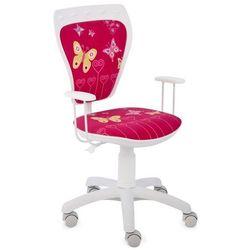 Obrotowe krzesło dziecięce MINISTYLE WHITE - Butterfly, Nowy Styl