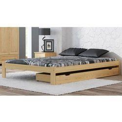 Łóżko drewniane Irys 160x200 EKO z materacem piankowym Megana